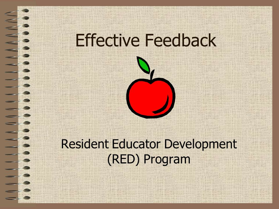 Resident Educator Development (RED) Program