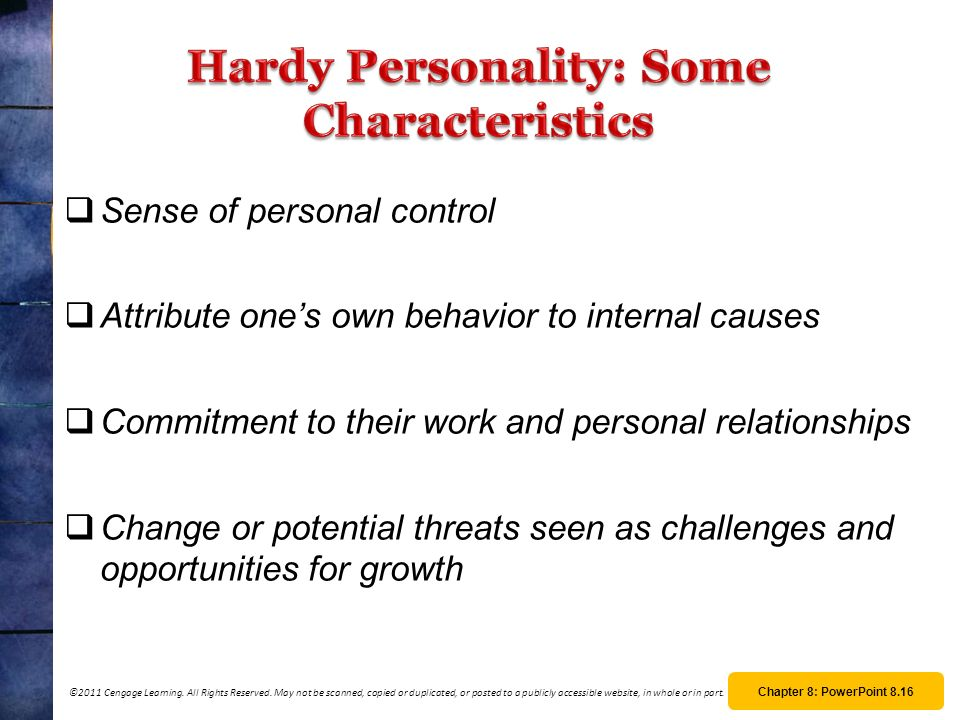 Hardy Personality: Some Characteristics