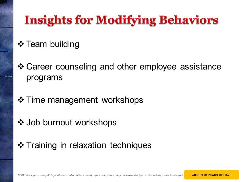 Insights for Modifying Behaviors