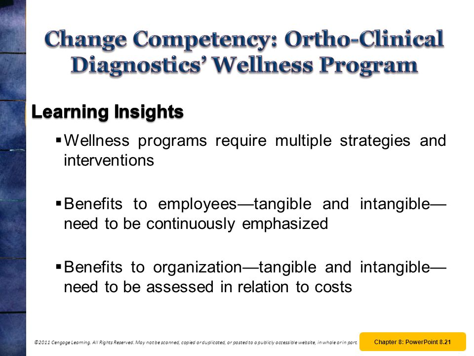 Change Competency: Ortho-Clinical Diagnostics' Wellness Program