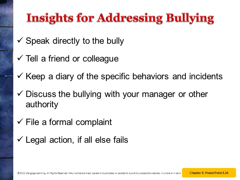 Insights for Addressing Bullying