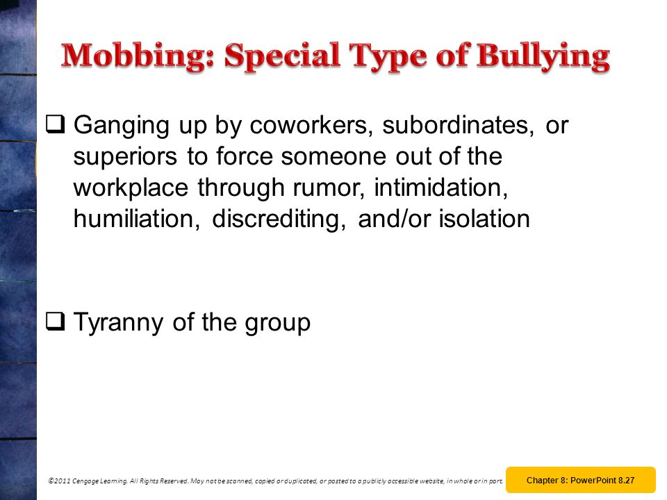 Mobbing: Special Type of Bullying