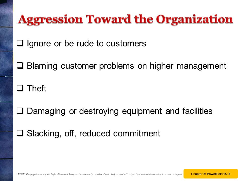 Aggression Toward the Organization