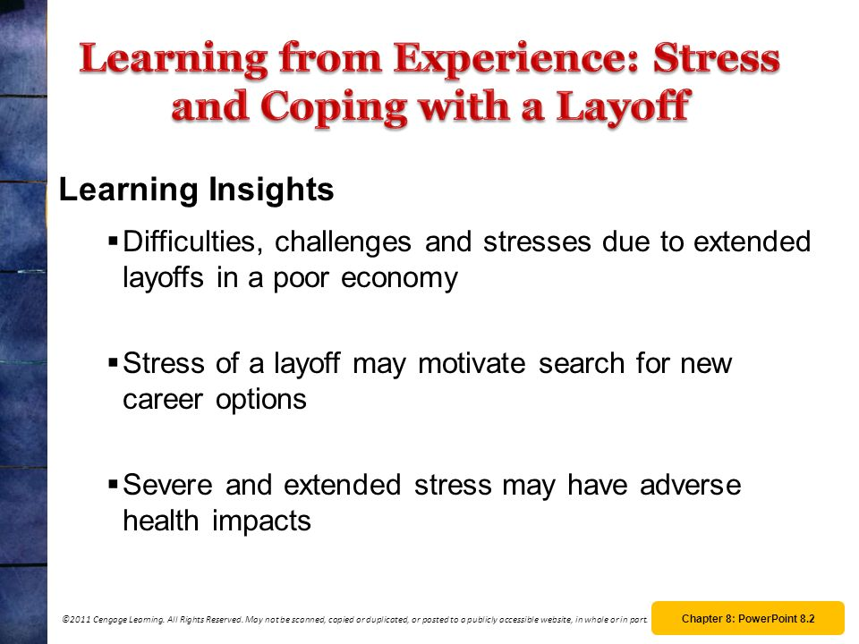 Learning from Experience: Stress and Coping with a Layoff