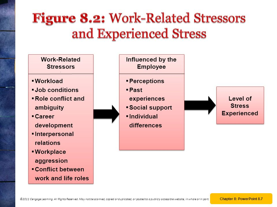 Figure 8.2: Work-Related Stressors and Experienced Stress