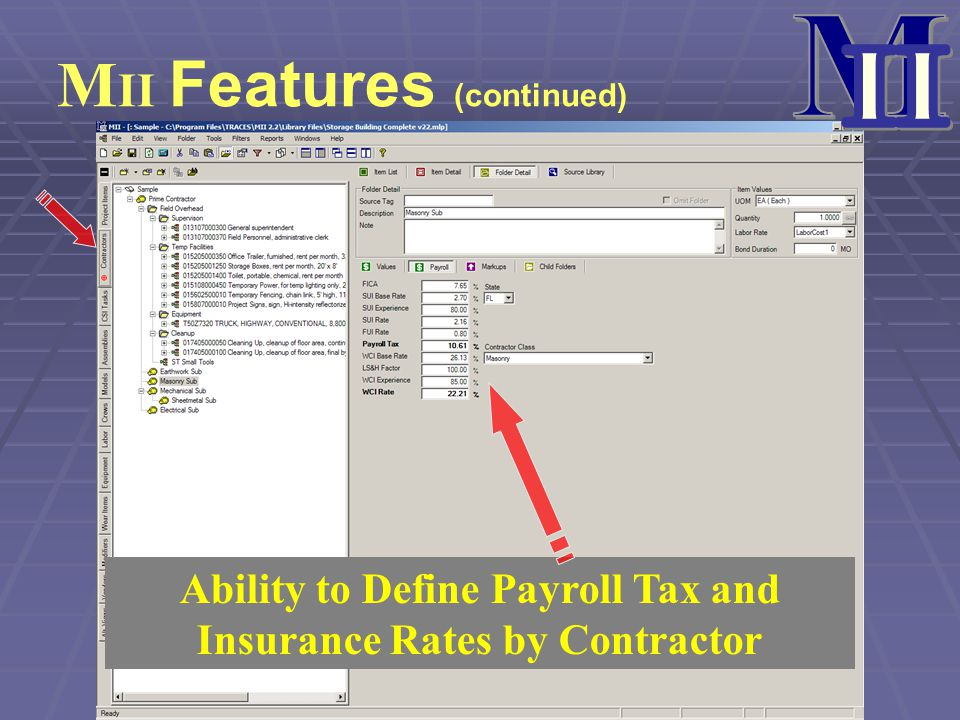 Ability to Define Payroll Tax and Insurance Rates by Contractor