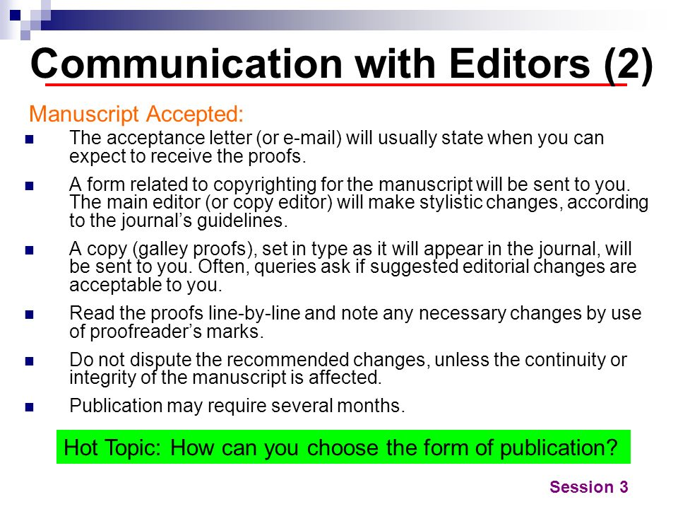 Communication with Editors (2)