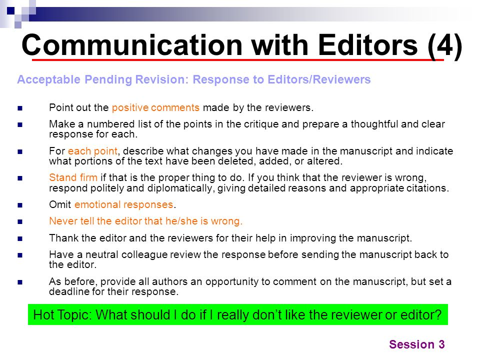 Communication with Editors (4)