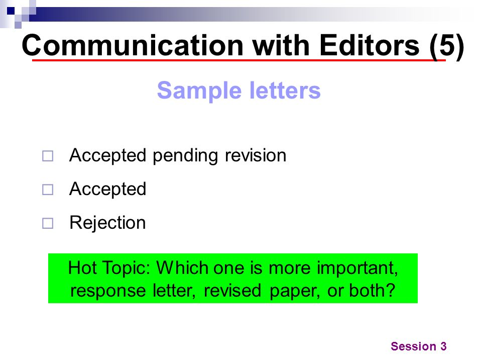 Communication with Editors (5)