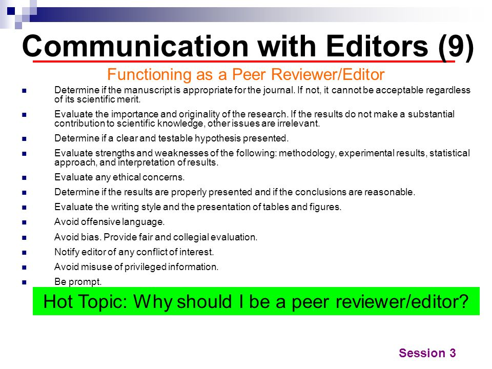 Communication with Editors (9)