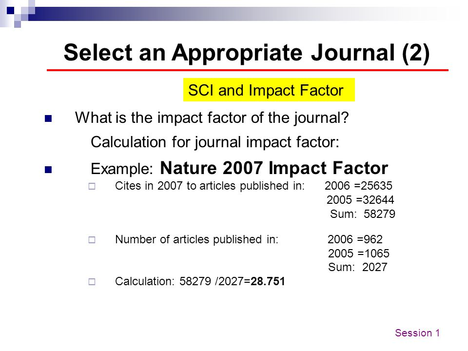 Select an Appropriate Journal (2)