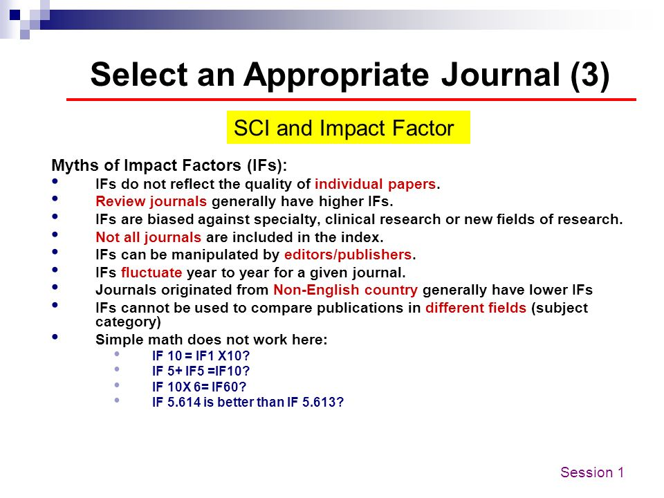 Select an Appropriate Journal (3)