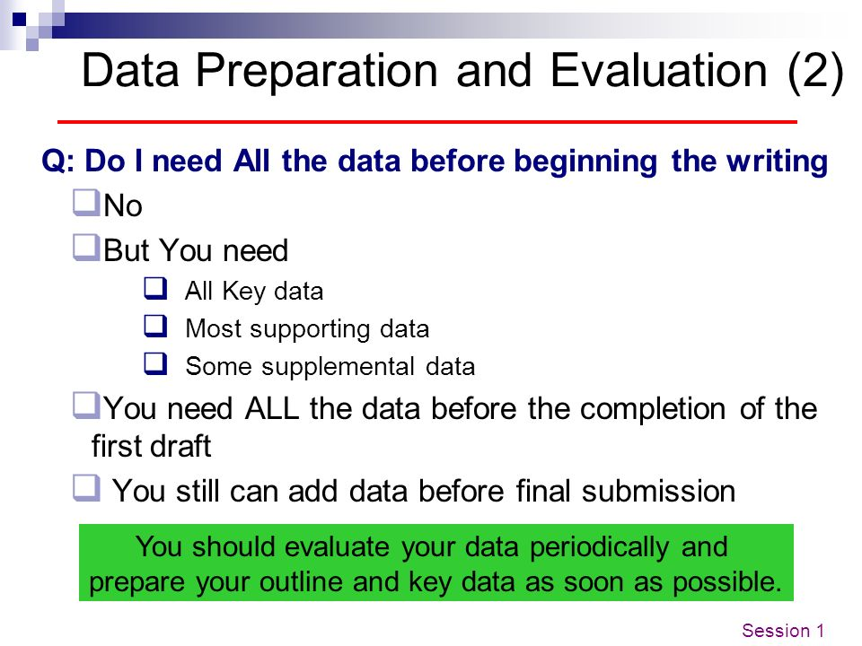 Data Preparation and Evaluation (2)