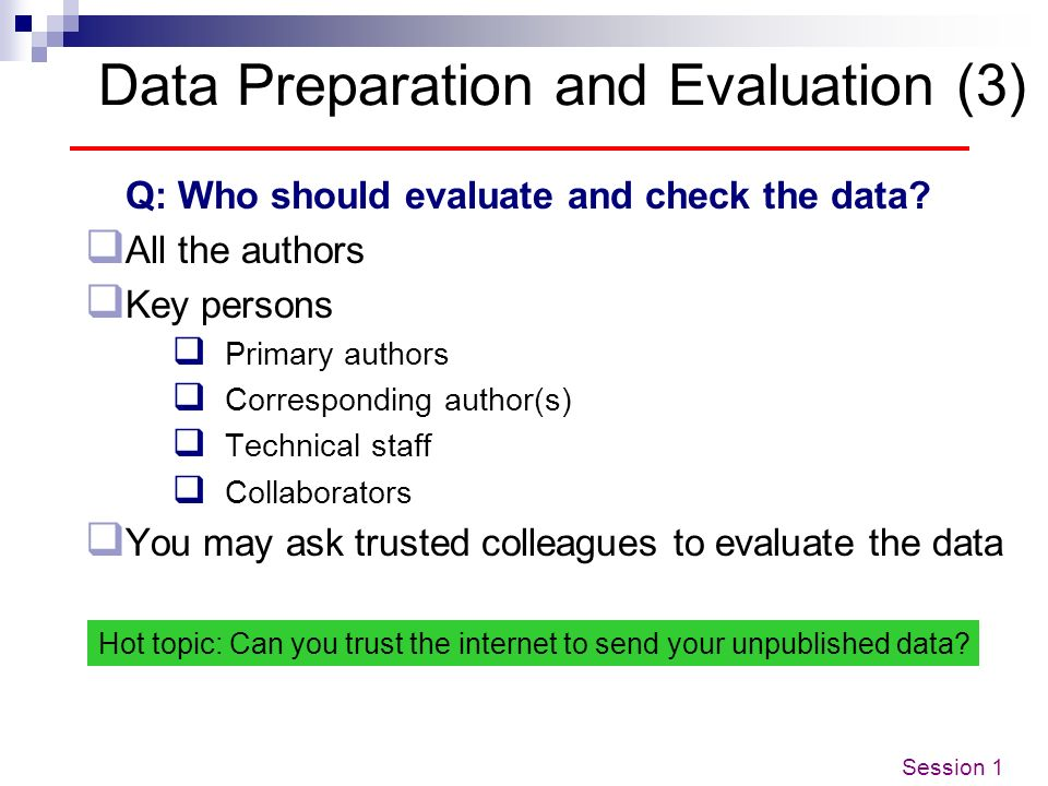 Data Preparation and Evaluation (3)