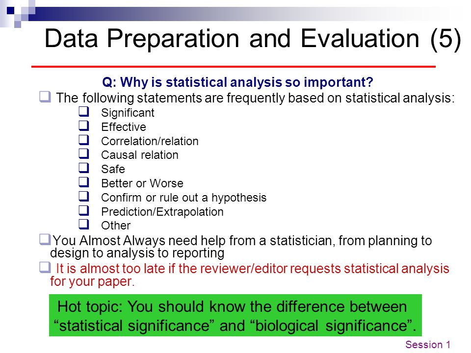 Data Preparation and Evaluation (5)