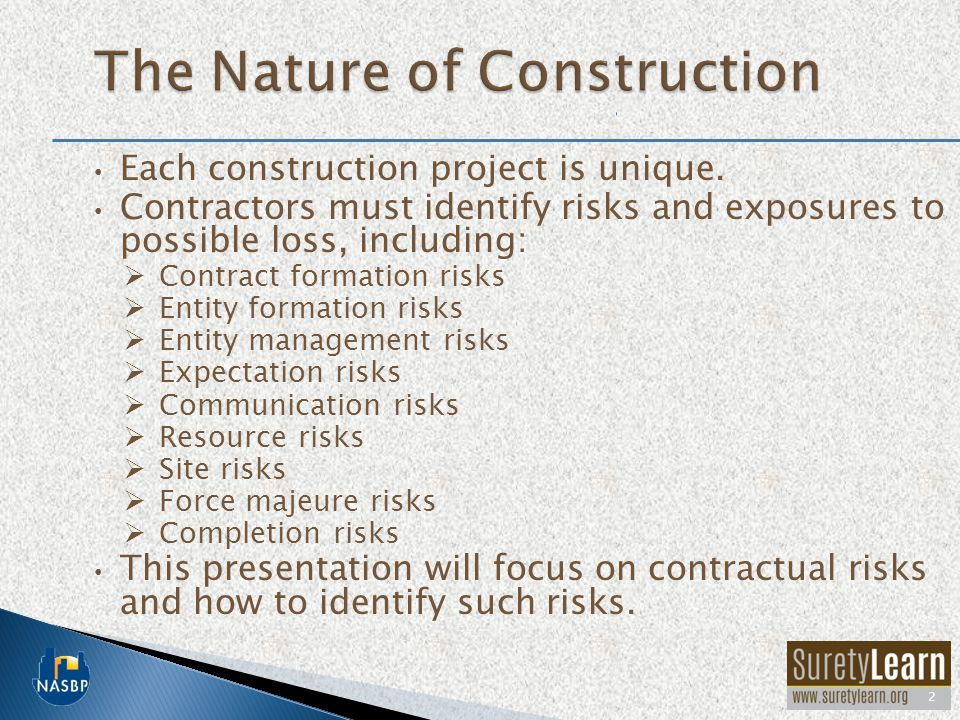 The Nature of Construction