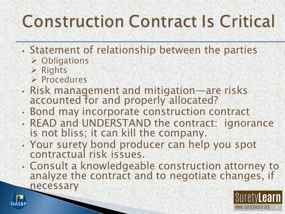 Construction Contract Is Critical