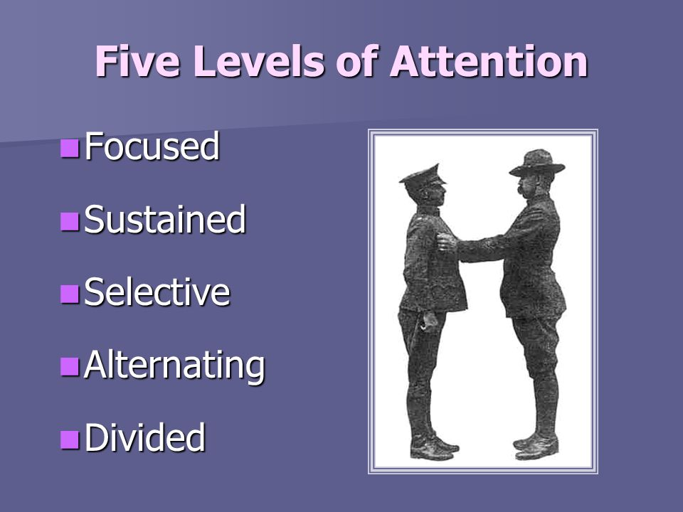 Five Levels of Attention