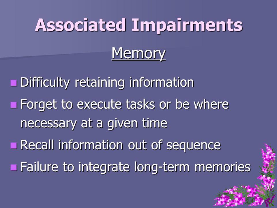 Associated Impairments