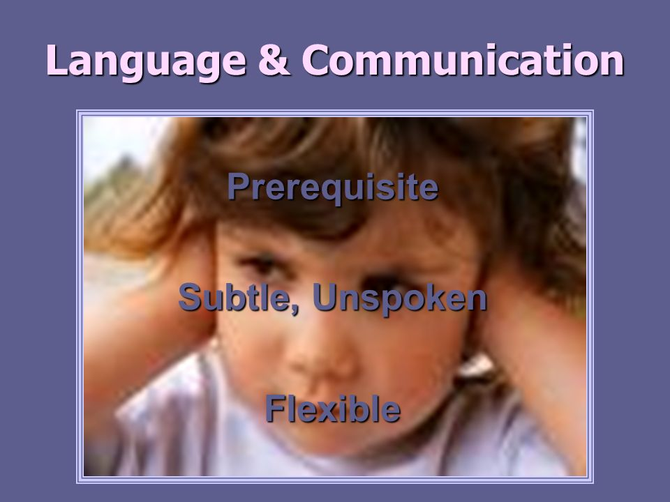 Language & Communication