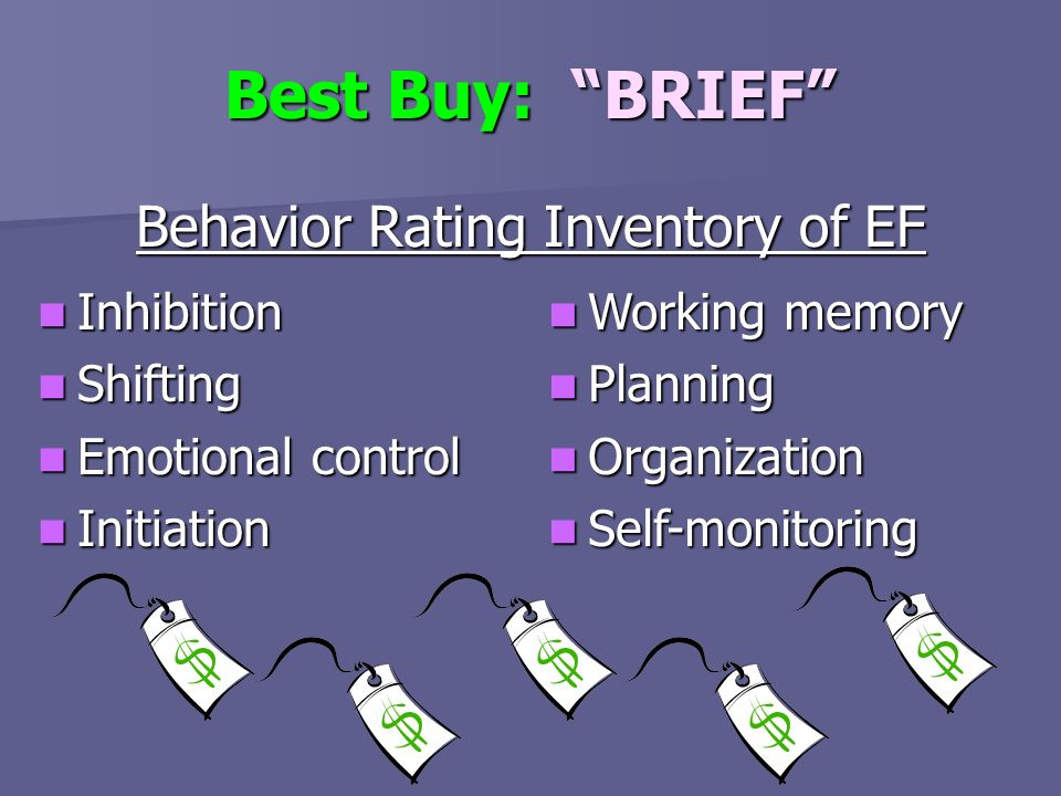 Behavior Rating Inventory of EF