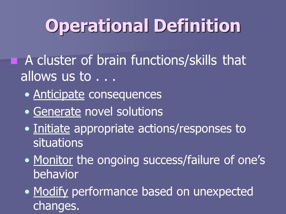 Operational Definition