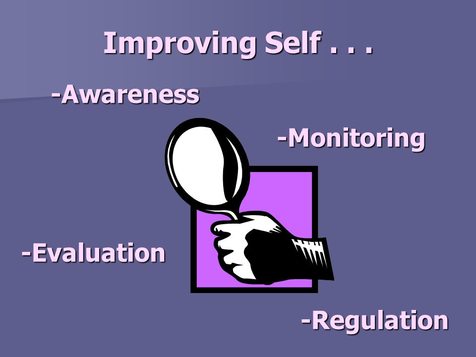 Good self-awareness requires attention and monitoring.