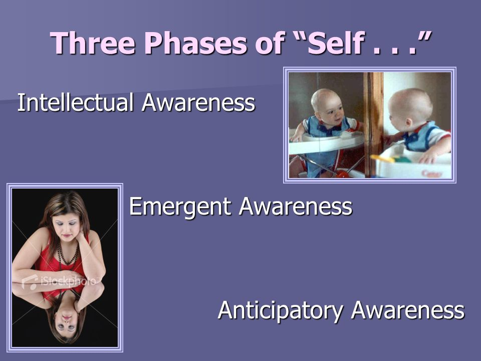 Three Phases of Self . . . Intellectual Awareness Emergent Awareness