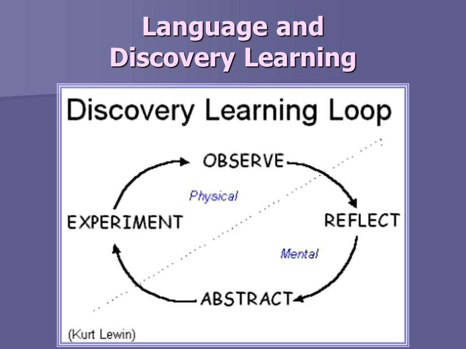Language and Discovery Learning