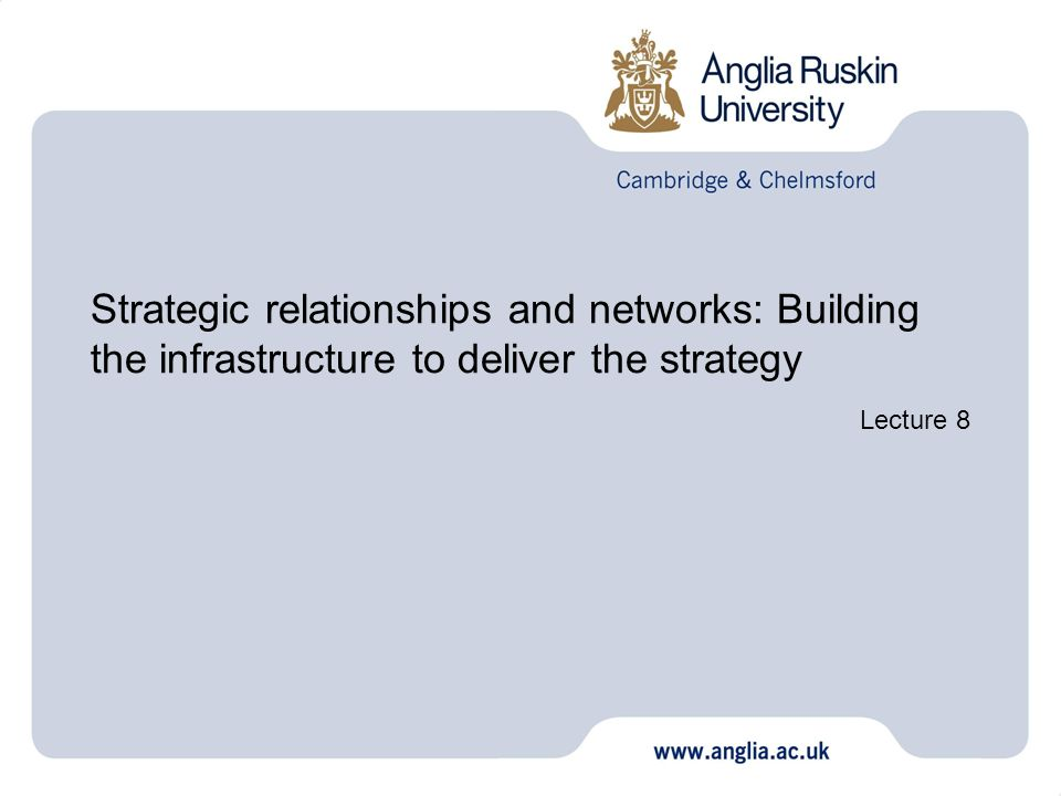 Strategic relationships and networks: Building the infrastructure to deliver the strategy