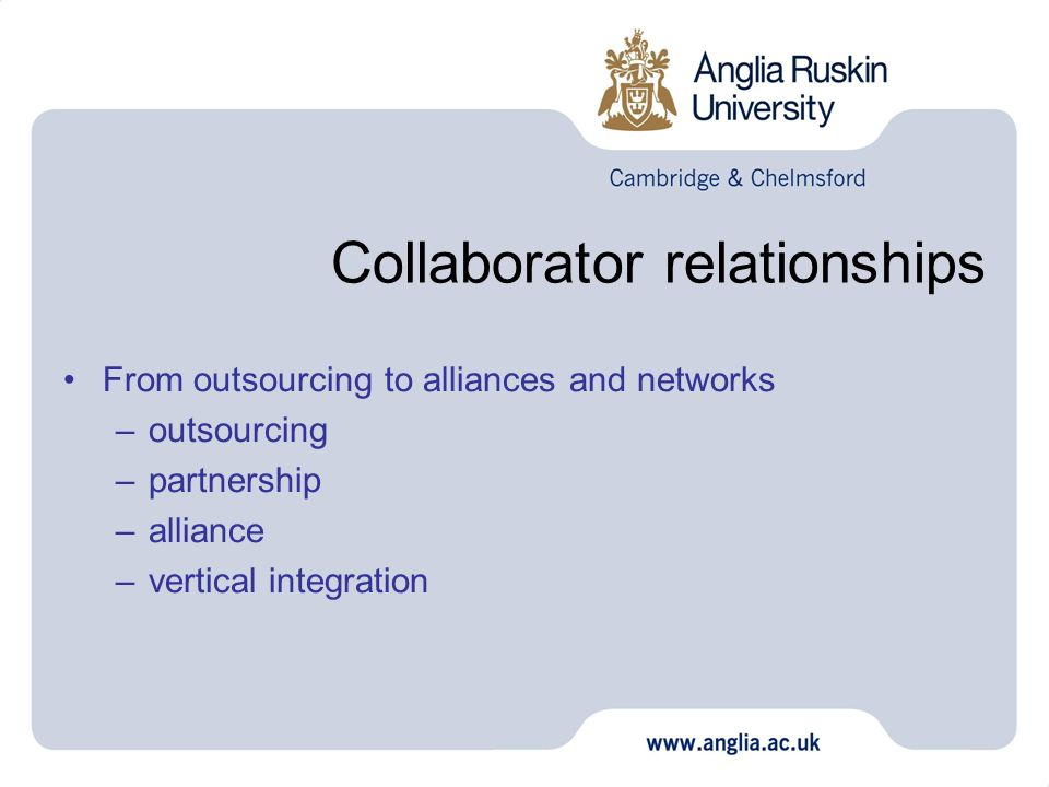Collaborator relationships