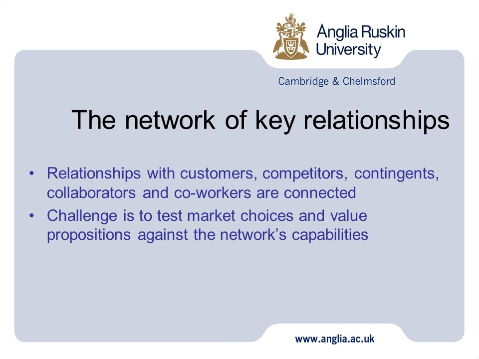 The network of key relationships