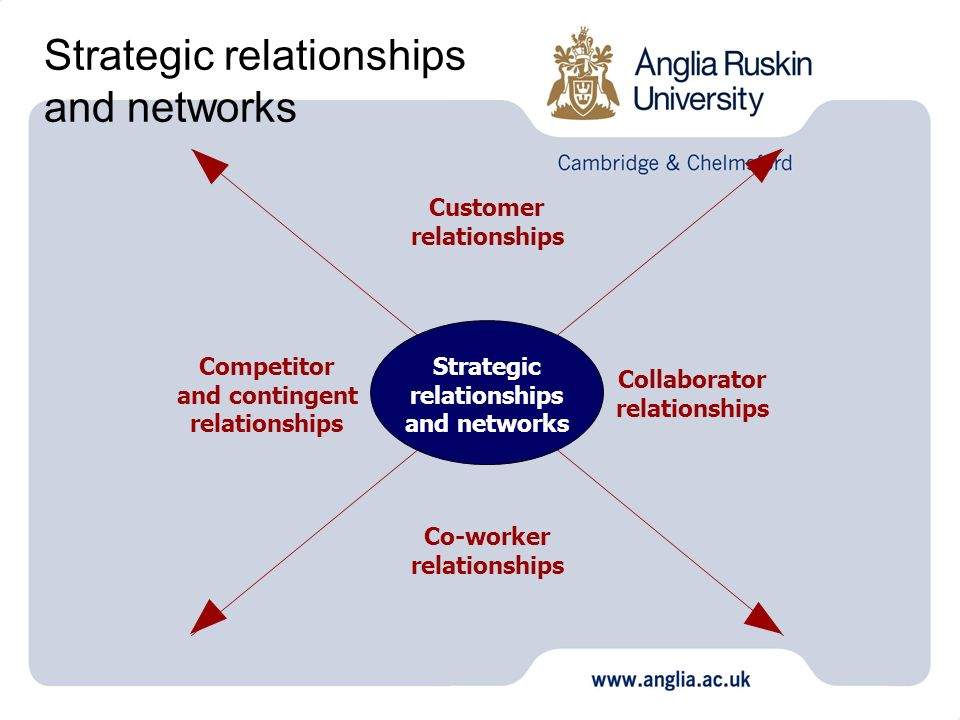 Strategic relationships and networks