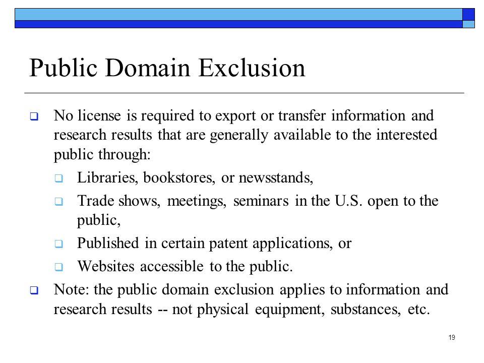 Public Domain Exclusion