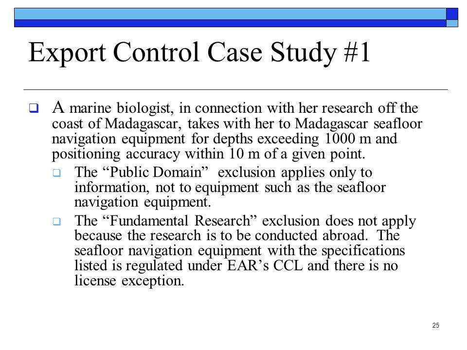 Export Control Case Study #1