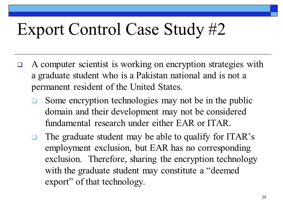 Export Control Case Study #2