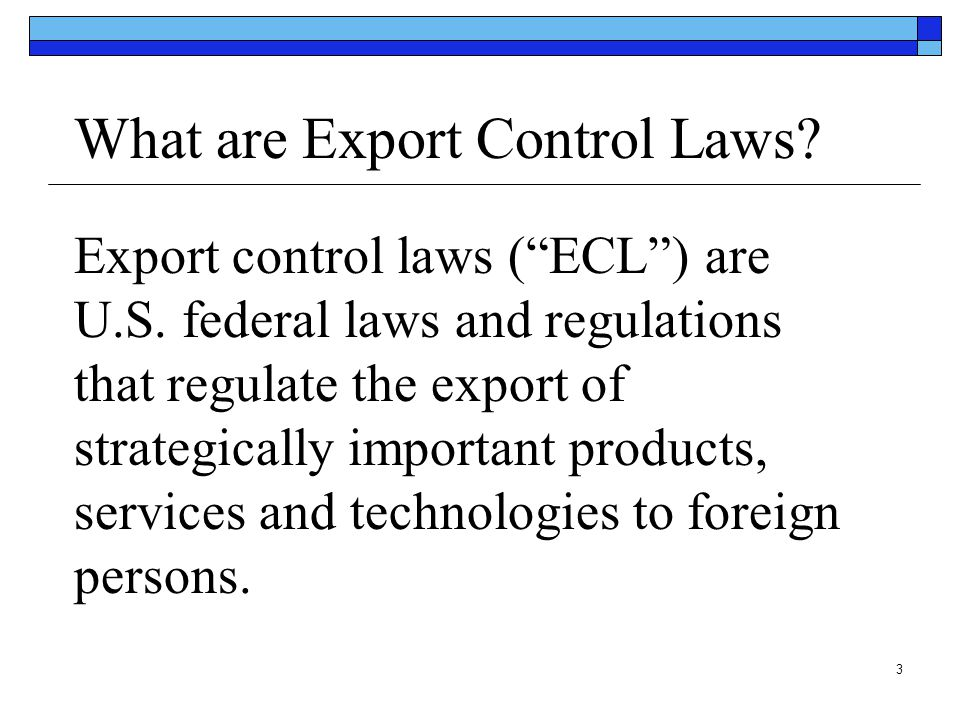 What are Export Control Laws