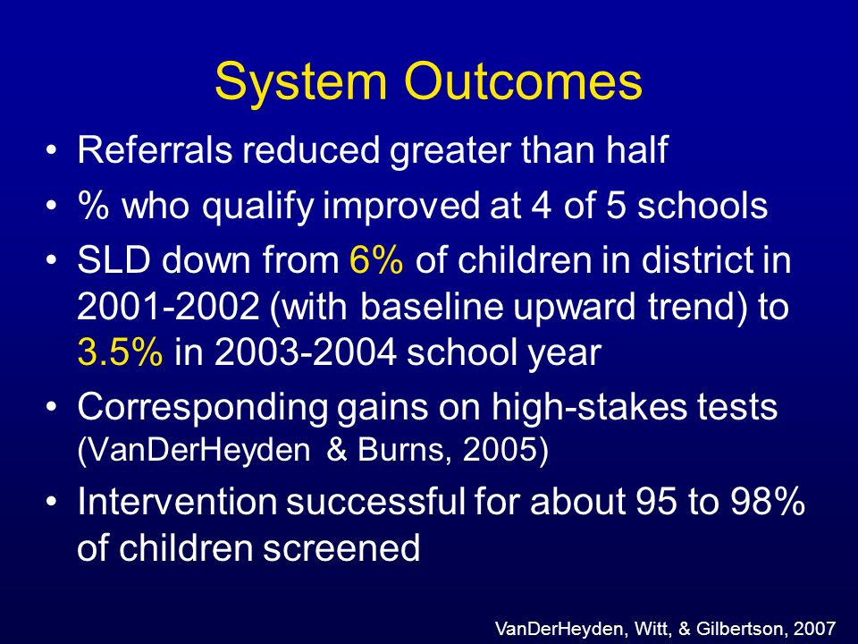 System Outcomes Referrals reduced greater than half