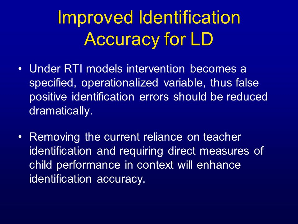 Improved Identification Accuracy for LD
