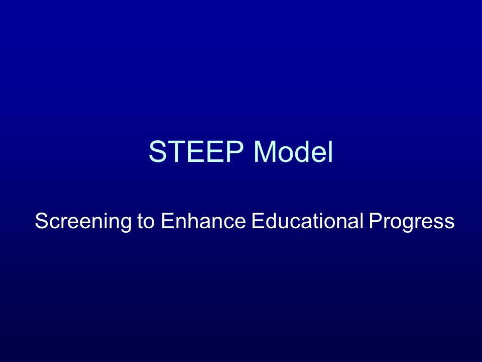 Screening to Enhance Educational Progress