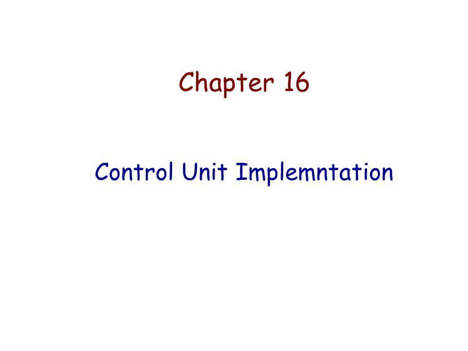 Control Unit Implemntation