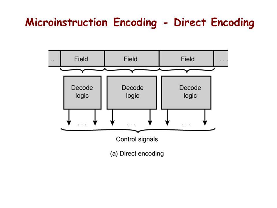 Microinstruction Encoding - Direct Encoding
