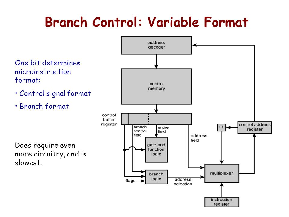 Branch Control: Variable Format