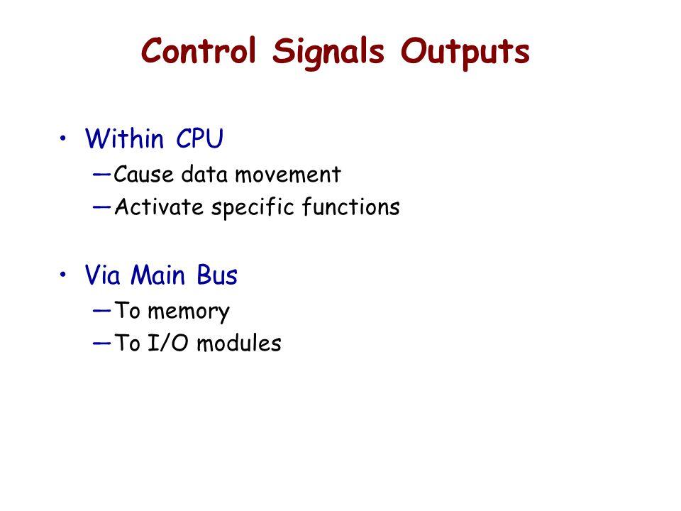 Control Signals Outputs