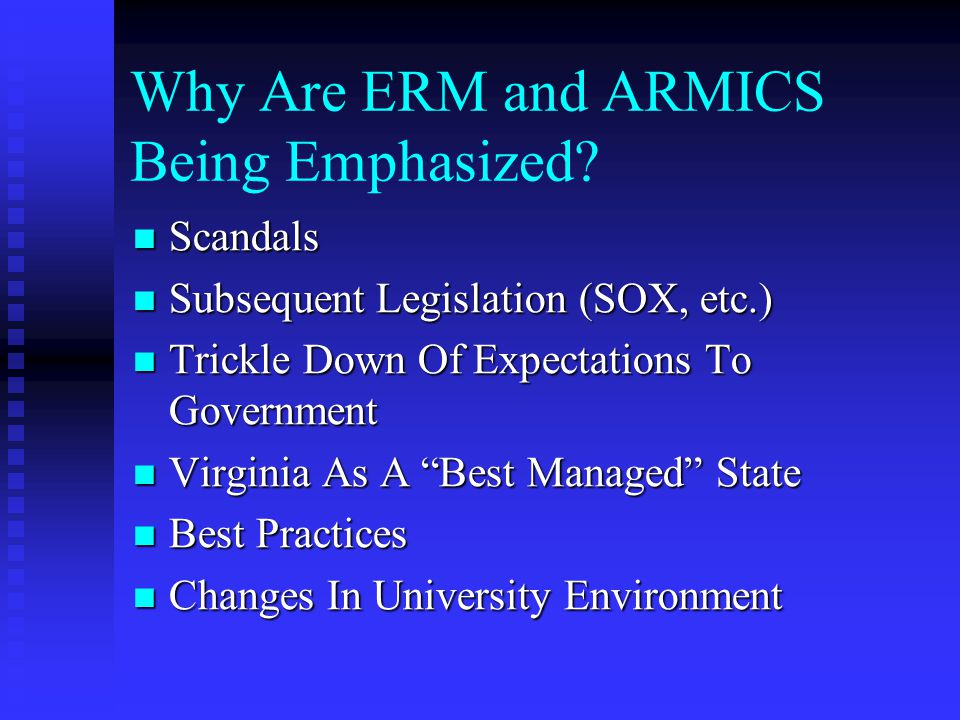 Why Are ERM and ARMICS Being Emphasized