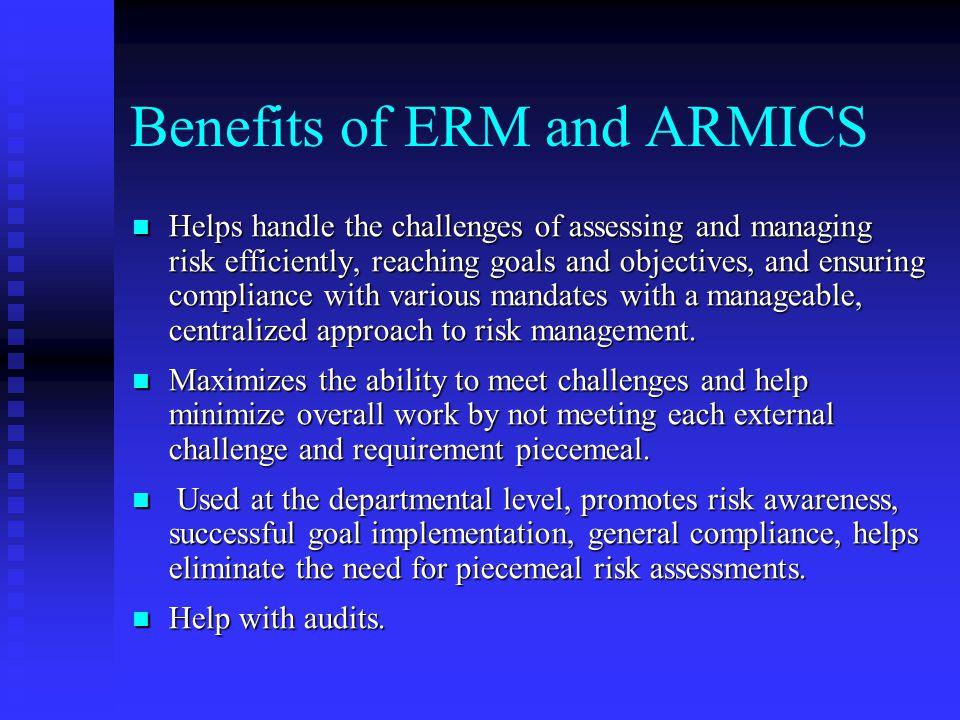 Benefits of ERM and ARMICS