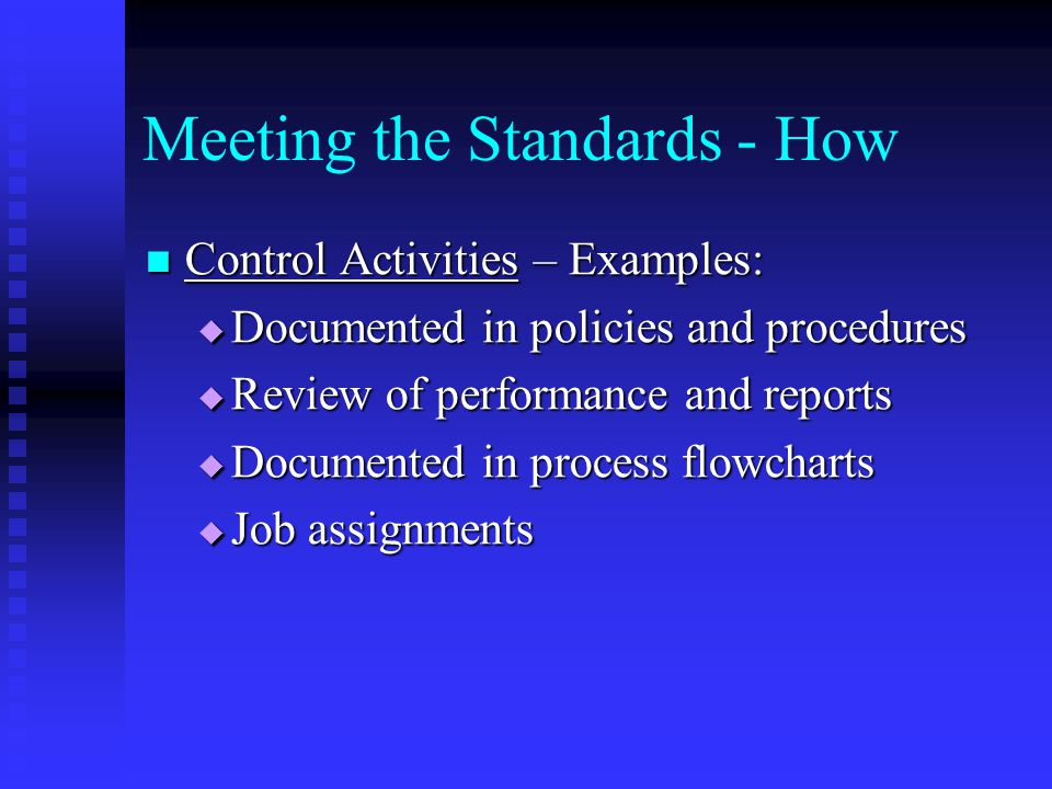 Meeting the Standards - How