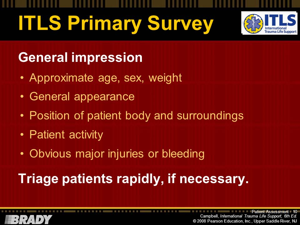 ITLS Primary Survey General impression