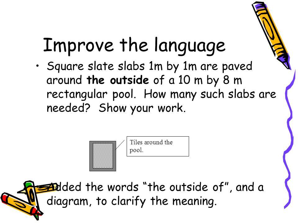 Improve the language
