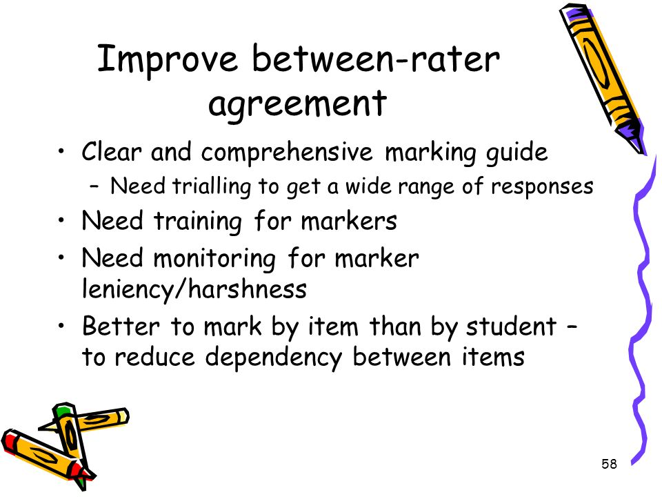 Improve between-rater agreement